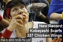 New Record: Kobayashi Scarfs 337 Chicken Wings