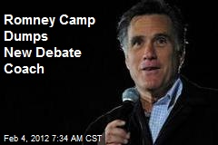 Romney Camp Dumps New Debate Coach
