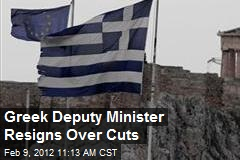 Greek Deputy Minister Resigns Over Cuts