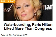 Waterboarding, Paris Hilton Liked More Than Congress