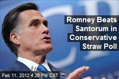 Romney Wins Conservative Straw Poll