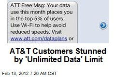 AT&T Customers Stunned by 'Unlimited Data' Limit