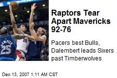 Raptors Tear Apart Mavericks 92-76