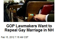 GOP Lawmakers Want to Repeal Gay Marriage in NH