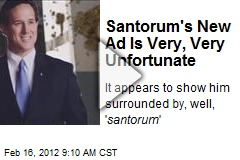 Santorum's New Ad Is Very, Very Unfortunate