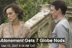 Atonement Gets 7 Globe Nods