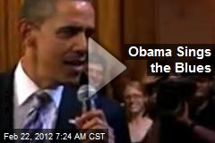 Obama Sings the Blues