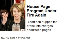 House Page Program Under Fire Again