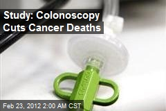Study: Colonoscopy Cuts Cancer Deaths