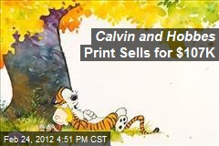 Calvin and Hobbes Print Sells for $107K