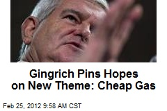 Gingrich Pins Hopes on New Theme: Cheap Gas