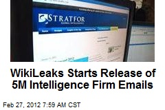 WikiLeaks Publishing Intelligence Firm's Emails