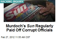 Murdoch's Sun Regularly Paid Off Corrupt Officials