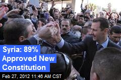 Syria: 89% Approved New Constitution