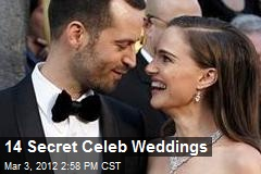 14 Secret Celeb Weddings