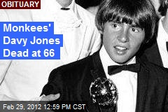 Monkees' Davy Jones Dead at 66
