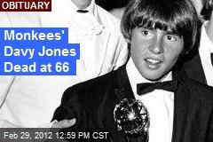 Monkees' Davy Jones Dead at 66