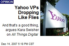Yahoo VPs Dropping Like Flies