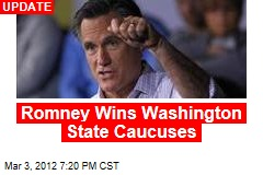 Romney Grabs Lead in Washington State Caucuses