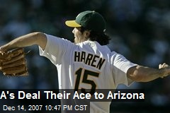 A's Deal Their Ace to Arizona