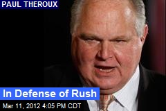 In Defense of Rush
