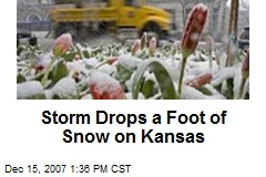 Storm Drops a Foot of Snow on Kansas