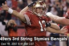 49ers 3rd String Stymies Bengals
