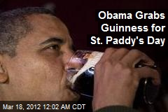 Obama Grabs Guinness for St. Paddy's Day