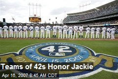 Teams of 42s Honor Jackie