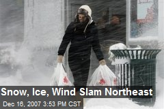 Snow, Ice, Wind Slam Northeast