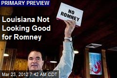 Louisiana Not Looking Good for Romney