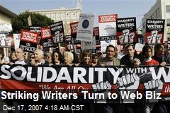 Striking Writers Turn to Web Biz