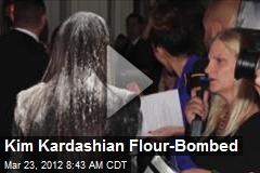 Kim Kardashian Flour-Bombed