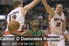 Celtics' D Dominates Raptors