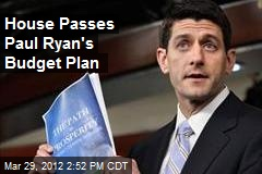 House Passes Paul Ryan's Budget Plan