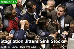 Stagflation Jitters Sink Stocks