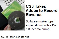CS3 Takes Adobe to Record Revenue