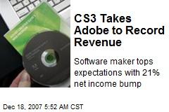 CS3 Takes Adobe to Record Revenue