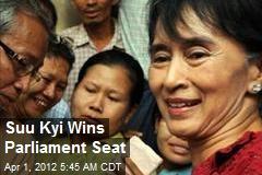 Suu Kyi Wins Parliament Seat