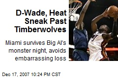 D-Wade, Heat Sneak Past Timberwolves