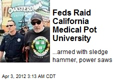 Feds Raid Calif. Medical Pot University