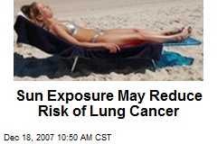 Sun Exposure May Reduce Risk of Lung Cancer
