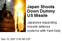 Japan Shoots Down Dummy US Missile