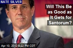 Will This Be as Good as It Gets for Santorum?