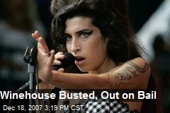 Winehouse Busted, Out on Bail