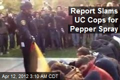 Report Slams UC Cops for Pepper Spray