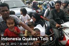 Indonesia Quakes' Toll: 5