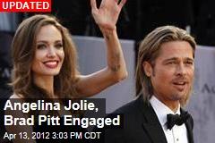 Angelina Jolie Wearing Engagement Ring