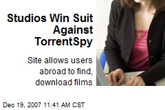 Studios Win Suit Against TorrentSpy