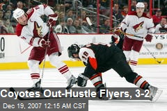 Coyotes Out-Hustle Flyers, 3-2